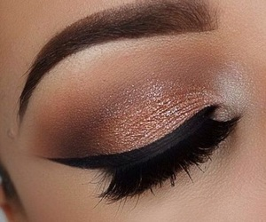 makeup, pretty, and copper image