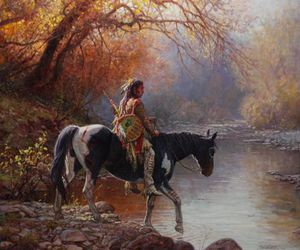 freedom, horse, and native american image