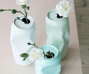 flowers, diy, and blue image