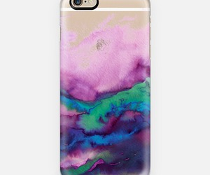 cell phone, lavender, and mint green image