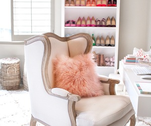 chair, pink, and shoes image