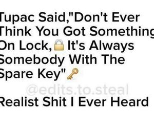 key, lock, and tupac image