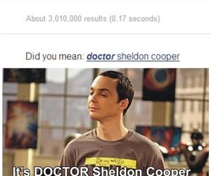 sheldon cooper, sheldon, and doctor image
