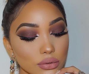 beauty, makeup, and pink image