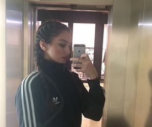 adidas, iphone, and model image