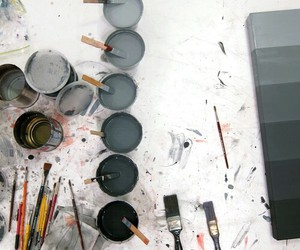 art, black, and paint image