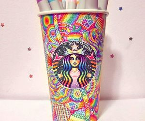 starbucks, colors, and colorful image