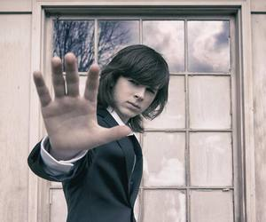 carl grimes, twd, and chandler riggs image