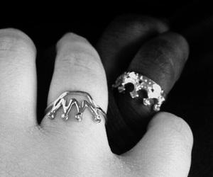baby, black&white, and lovelove image