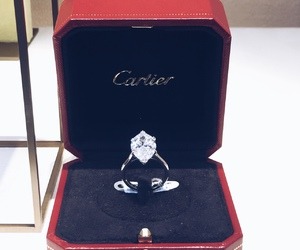 cartier, diamond, and ring image