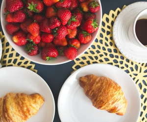 strawberry, coffee, and breakfast image