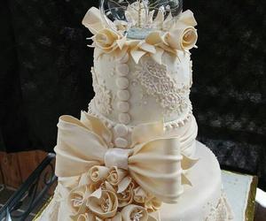 amazing, wedding cake, and white image