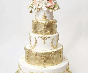 beautiful, flowers, and gold image