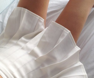 white, aesthetic, and skirt image