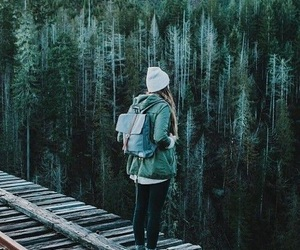 girl, forest, and nature image