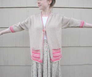 cardigan sweater, knit sweater, and etsy image