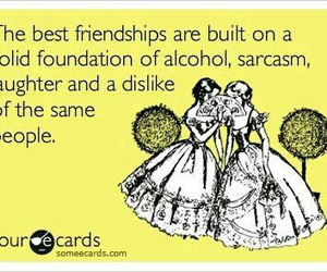 friendship, quote, and sarcasm image