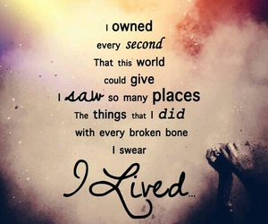 one republic, i lived, and Lyrics image