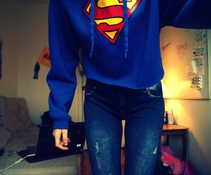 supergirl blue sweater image