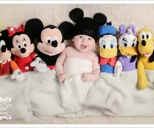 baby, disney, and mickey mouse image