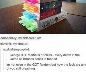books, game of thrones, and fandom image