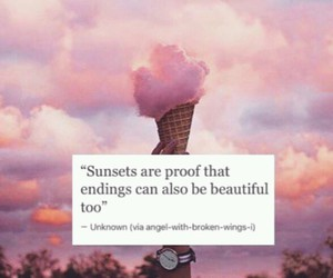 quote, beautiful, and sunset image