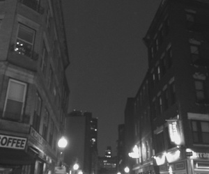 aesthetic, black and white, and boston image