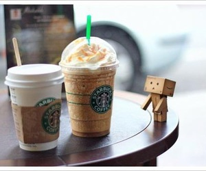 starbucks, danbo, and coffee image