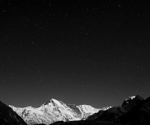 mountains, night, and wallpaper image