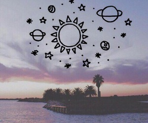 sun, planet, and tumblr image