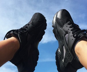 shoes, black, and blue image