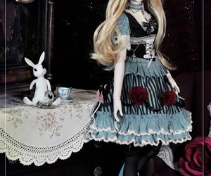alice in the wonderland, ball jointed doll, and beautiful image