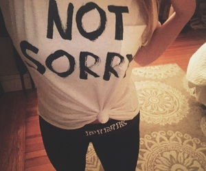 sorry and not sorry image