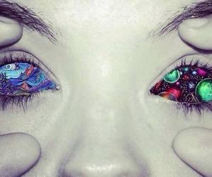 eyes, art, and drugs image