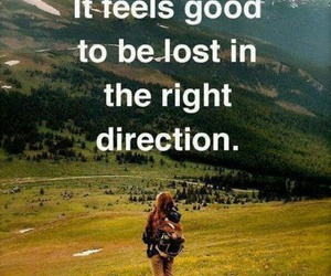 quotes, lost, and direction image