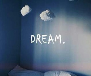 bed, cloud, and Dream image