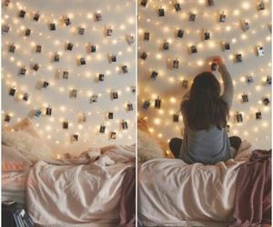 light, room, and girl image