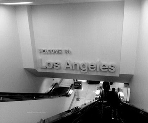 los angeles and black and white image