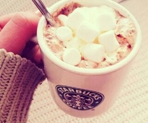 starbucks, marshmallow, and coffee image