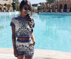 blue, girl, and outfit image