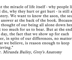 grey's anatomy, bailey, and quote image