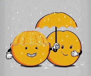 love, orange, and rain image