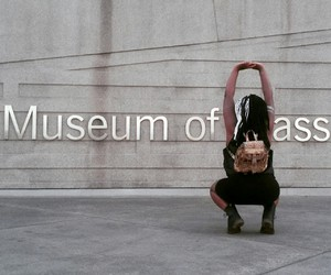classy, gal, and museum image