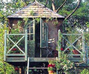garden and treehouse image