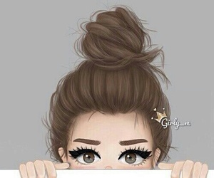 girl, eyes, and hair image