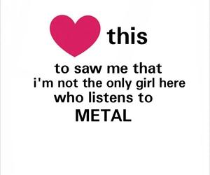 metal, girl, and music image