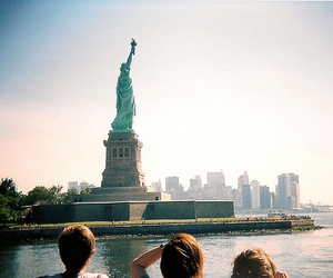 outside, freedom, and new york image
