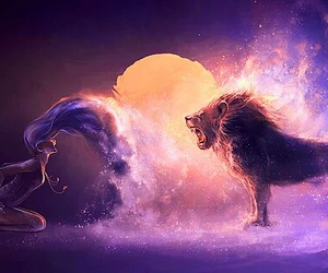 lion, Leo, and art image