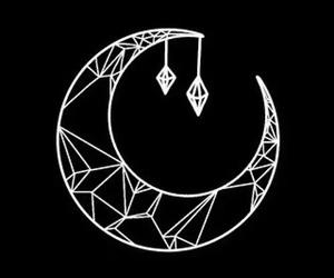 moon, overlay, and diamond image