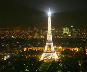 paris at night, city, and eiffel tower image